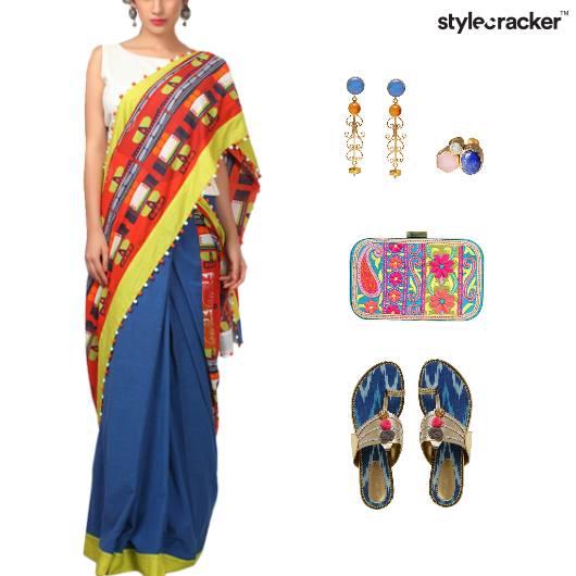 Quirkyindia Colorblocking Stonejewellery Kolhapuri Pop - StyleCracker
