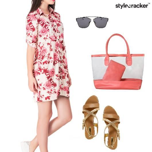 Floral Shirt Dress Casual Outdoor - StyleCracker