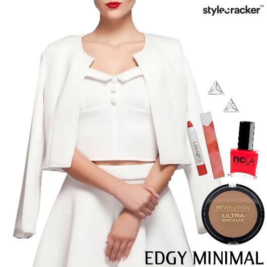 Allwhite Croppedjacket Redlips Edgy Classy - StyleCracker
