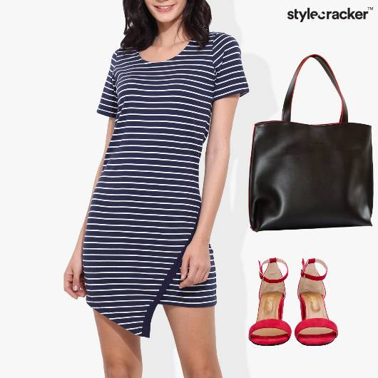 Stripe Dress Casual Work Dinner - StyleCracker