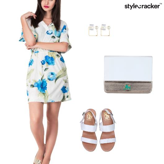 Floral Dress Casual Weekday Lunch - StyleCracker