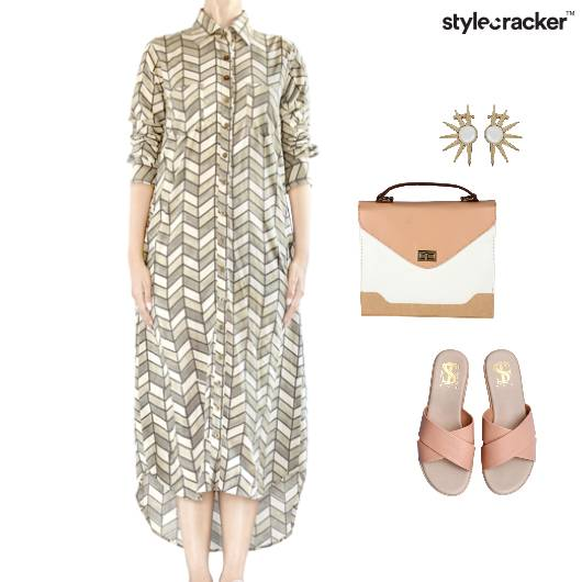 Zigzag Shirtdress Abstract  Effortless - StyleCracker