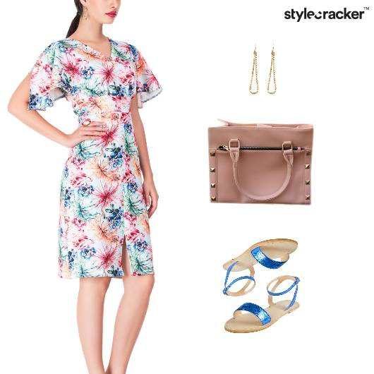 Printed Dress Flats Lunch Accessories - StyleCracker