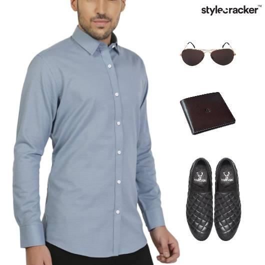 Crisp Shirt Trouser SlipOn Footwear - StyleCracker