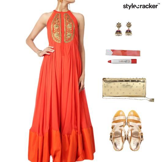 Indian Ethnic Festive Pleats Clutch - StyleCracker