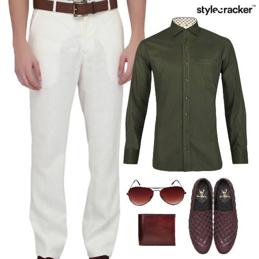 Shirt Chinos Pants Lunch SlipOn - StyleCracker