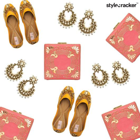 Festive Jutti Embellished Earrings  - StyleCracker