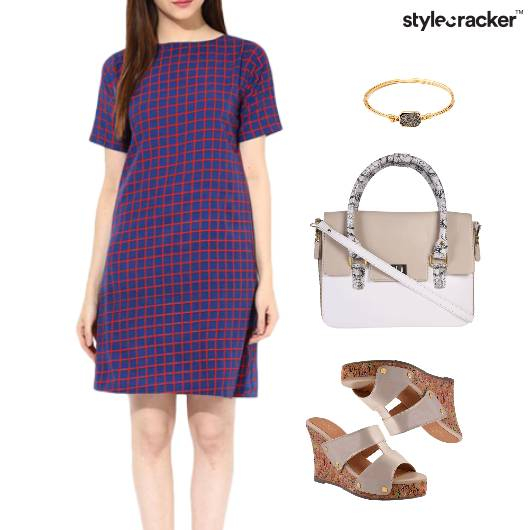 Shift Dress Wedge Footwear Lunch - StyleCracker