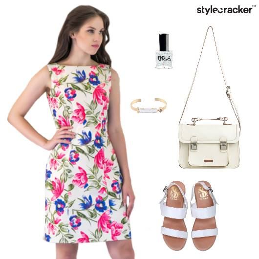 Floral Printed Dress Flats Footwear - StyleCracker