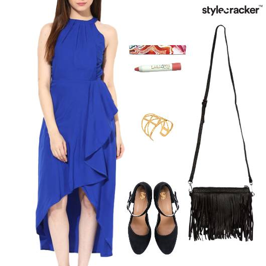 Dress BalletFlats Fringe SlingBag Accessories - StyleCracker