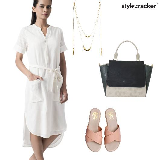 White Dress SlipOns Casual  - StyleCracker