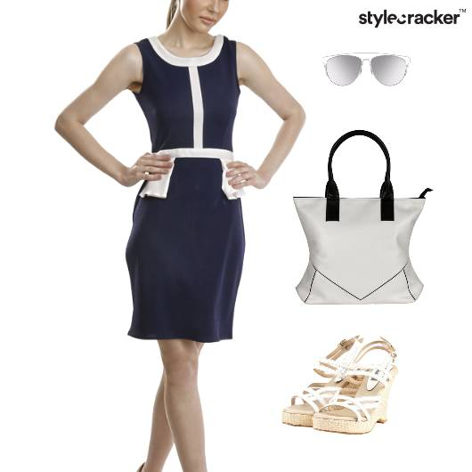 ColourBlock Dress Wedge Footwear Lunch - StyleCracker
