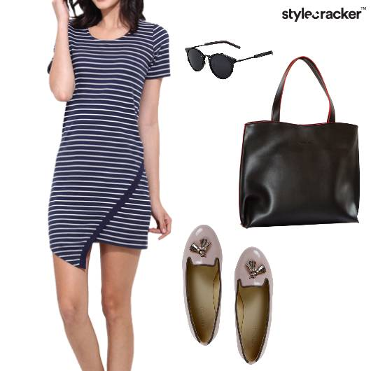Stripe Dress Casual Work Basic - StyleCracker