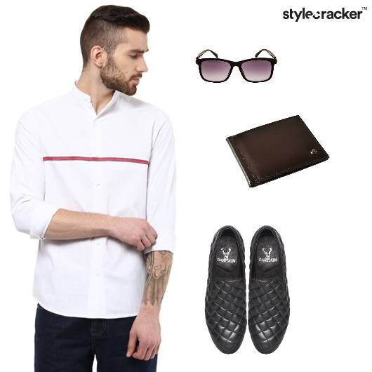 Shirt Jeans Causal Basic - StyleCracker
