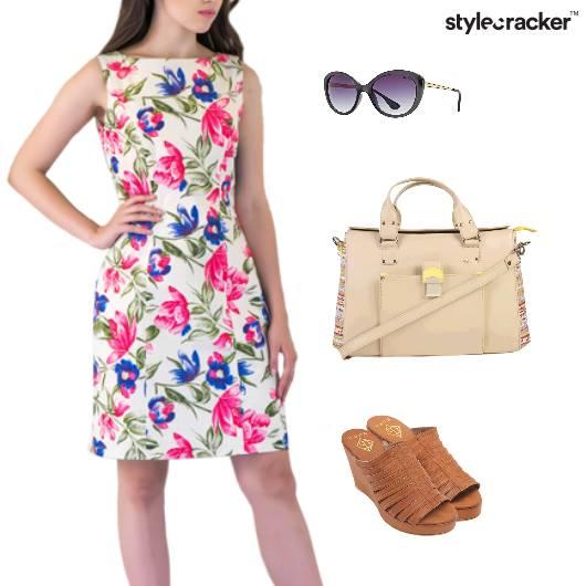 Floral Dress Lunch DayDress - StyleCracker