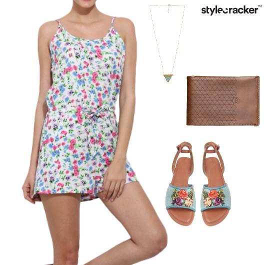 Floral Romper Casual DayOut  - StyleCracker