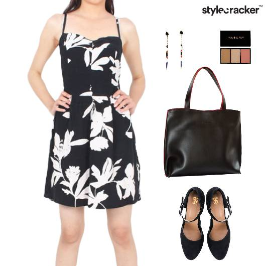 Floral Printed Dress Tote Bag  - StyleCracker