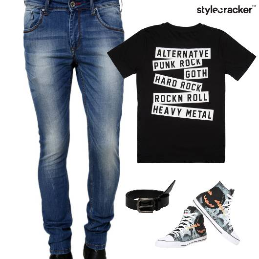 Casual Graphic TShirt Lunch HiTop - StyleCracker