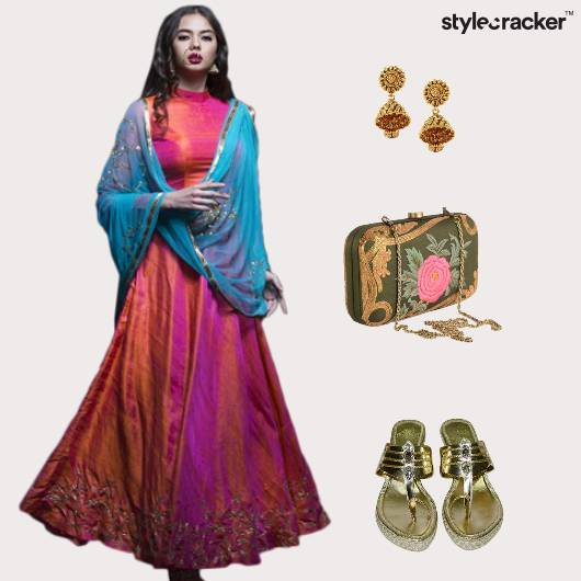 Indian Festive Multicoloured Jhumki  - StyleCracker