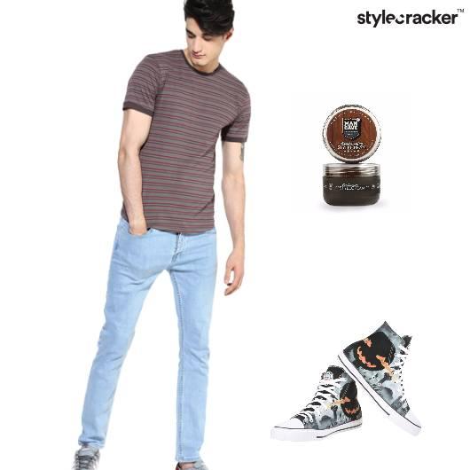 Casual Denim tshirt Striped  - StyleCracker