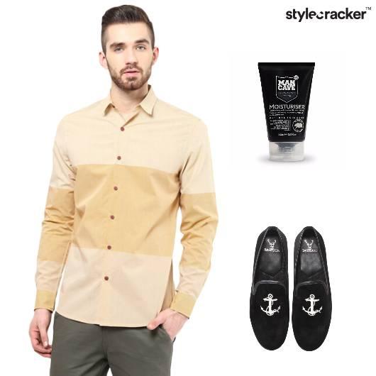 Colourblock Shirt Party Slipons Nautical - StyleCracker