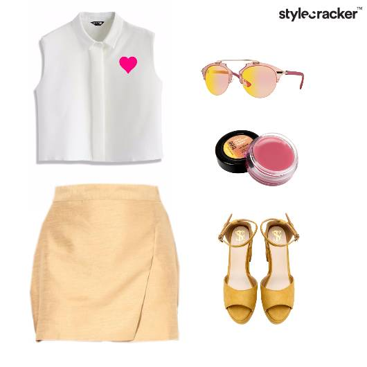 CropTop Skirt Heels Girly Sunglasses - StyleCracker