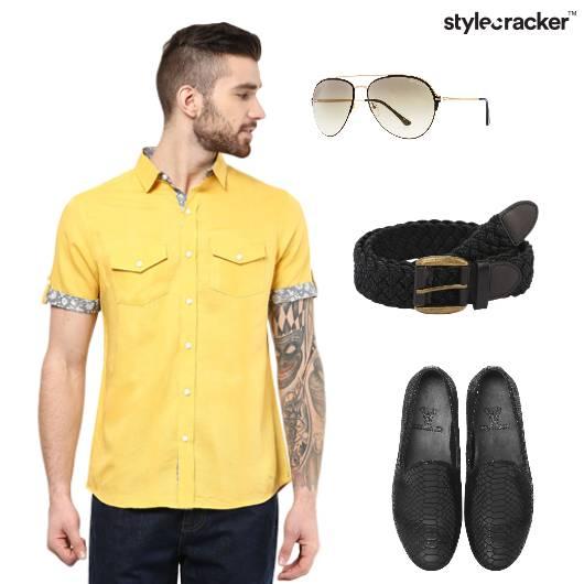 Effortless Casual Shirt Belt Sunglasses - StyleCracker