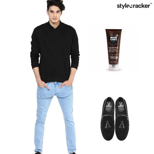Sweatshirt Jeans Loafers Party  - StyleCracker