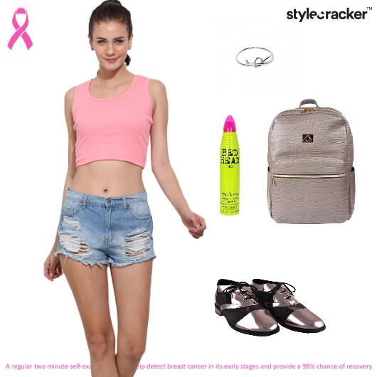 Croptop Shorts Casuals Collegewear  - StyleCracker