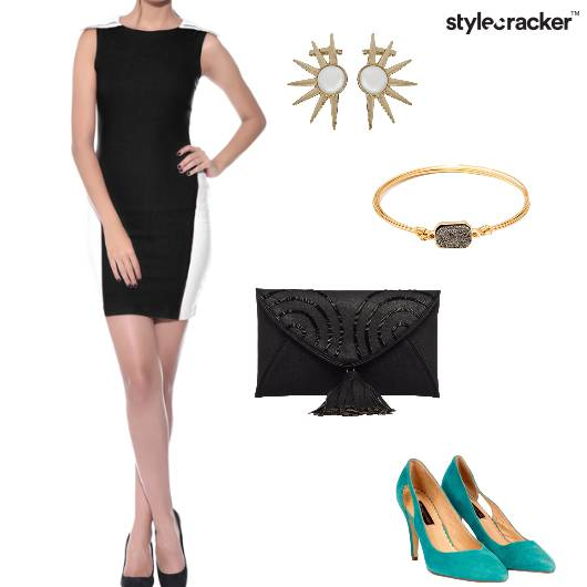 Dress Bodycon Clutch Pumps Party - StyleCracker