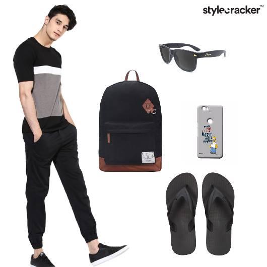 Tshirt Joggers Flipflops Casual - StyleCracker