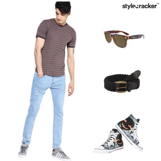 Casual Effortless Sneakers Sunglasses Tshirt - StyleCracker