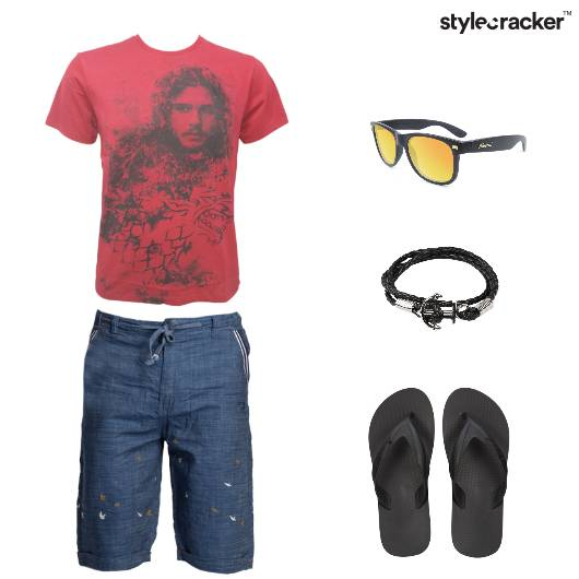 Casual Effortless Shorts Slippers Tshirt - StyleCracker