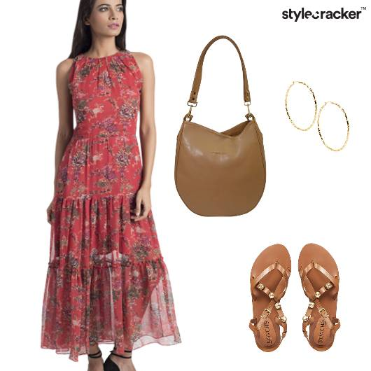 Prints Dress Flats Casual  - StyleCracker