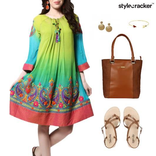 ColorSplash Dress ToteBag Flats Event - StyleCracker