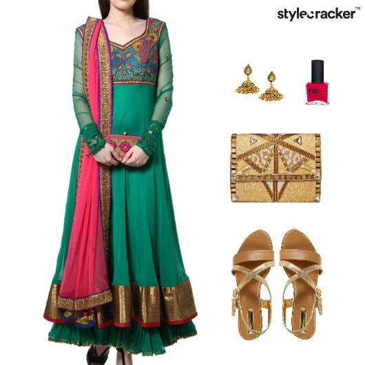Indian Festive Ethnic Clutch Flats - StyleCracker