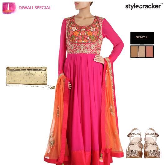 Diwali Indian Festive Ethnic Shimmer - StyleCracker