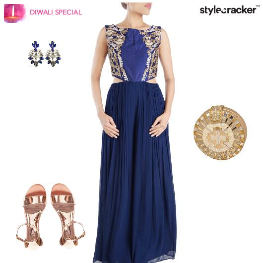 Diwali Indian Pleats Festive Ethnic - StyleCracker