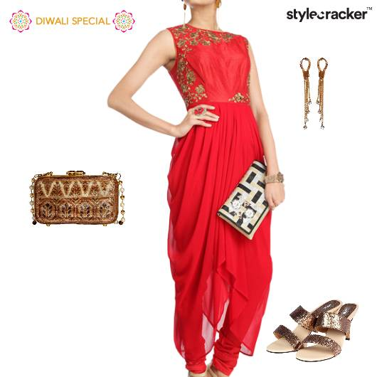 Diwali Festive Indian Ethnic Drapes  - StyleCracker