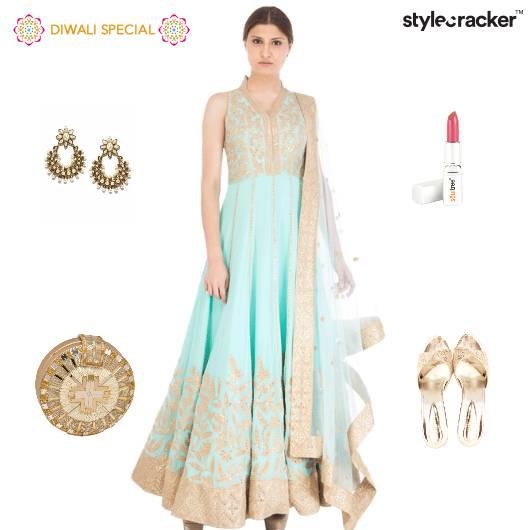 Festive Diwali Indian Clutch Heels  - StyleCracker