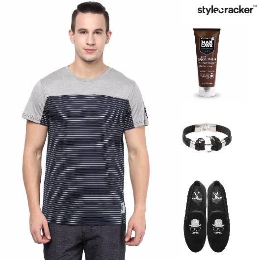 Casual Tshirt SlipOns Grooming Stripes - StyleCracker