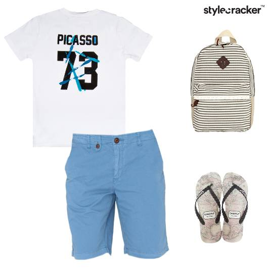 Casual Shorts BackPack Slippers Tshirt - StyleCracker