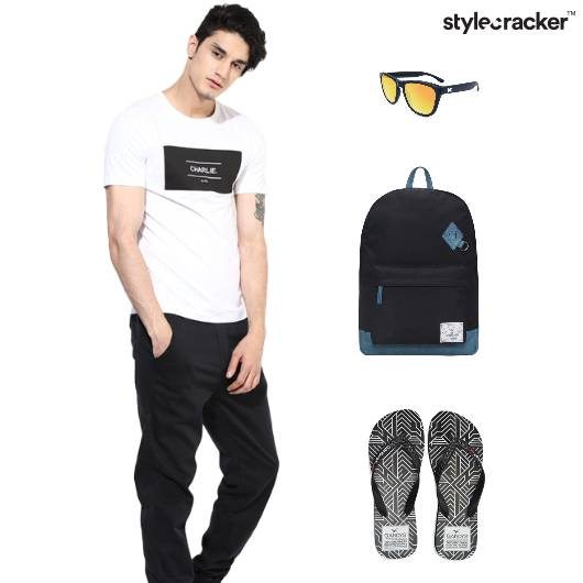 Casual Joggers Backpack Sunglasses Slippers - StyleCracker