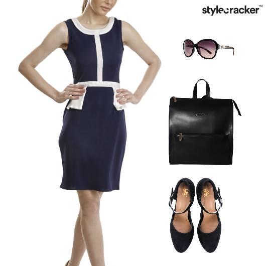 ColourBlock Dress Backpack BalletFlats - StyleCracker