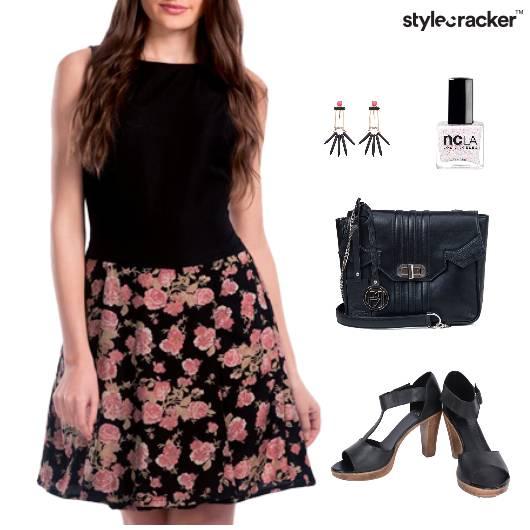Floral Print Dress SlingBag Lunch - StyleCracker