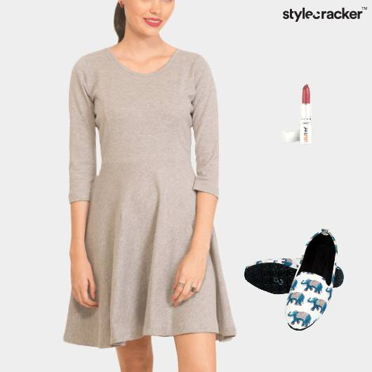 Skater Dress Loafers Casual Lunch - StyleCracker