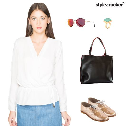 Chic White Brogues ToteBag Reflectors  - StyleCracker