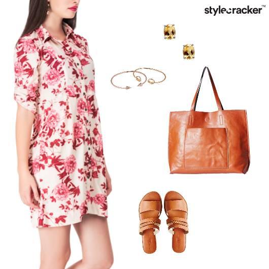Floral Shirt Dress Casual Shopping - StyleCracker