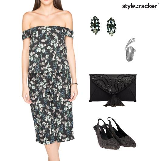 Floral OffShoulder Dinner Night - StyleCracker