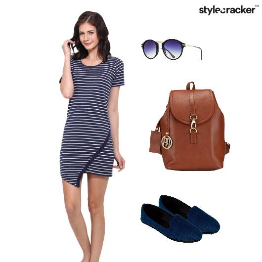 Stripes CasualDress Backpack Chic - StyleCracker